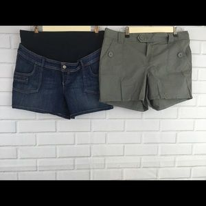 Old navy +Announcements sz MD Maternity Shorts